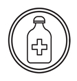 Bottle with pills or vitamins icon isolated vector image