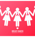 breast cancer campaign vector image