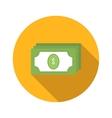 Bundle of money flat icon vector image