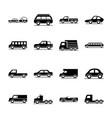 car model mini truck campervan transport vehicle vector image vector image