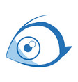 cartoon eye human look watch icon vector image vector image
