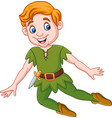 cartoon funny peter pan vector image vector image