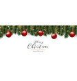 christmas and happy new year pine tree and red vector image