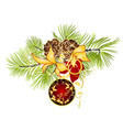 christmas and new year decoration red vector image vector image