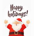 christmas card with happy holidays text and funny vector image vector image