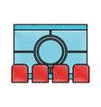 cinema scene isolated icon vector image vector image