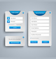 collection login and register web screen with vector image vector image