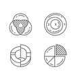 diagrams linear icons set data graphic vector image vector image