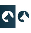 dog wolf logos set minimalist icon - isolated vector image