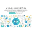 elegant thin flat line World communication vector image vector image