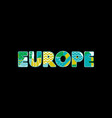 europe concept word art vector image vector image