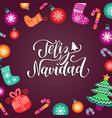 feliz navidad translated merry christmas vector image vector image