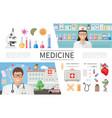 flat medicine elements set vector image vector image