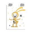 Greeting card Easter rabbit vector image vector image