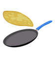 griddle pan icon flat style vector image