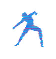 gymnast man is posing and dancing sport symbol vector image