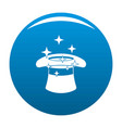 hat with a star icon blue vector image