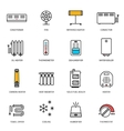 Heating ventilation and conditioning icons set vector image