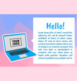 infographic template with laptop computer vector image vector image