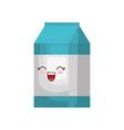 kawaii milk box icon vector image