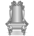 king throne vector image vector image