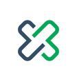 letter x icon logo concept vector image vector image
