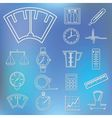 measuring outline icons vector image