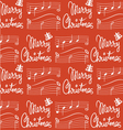 Merry Christmas song pattern vector image vector image