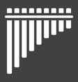 mexican pan flute glyph icon music vector image