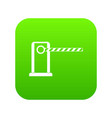 parking entrance icon digital green vector image vector image