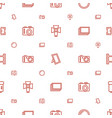 photo icons pattern seamless white background vector image vector image