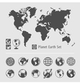 Planet earth symbol set vector image vector image