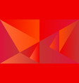 polygonal dynamic red gradient triangle mosaic vector image vector image