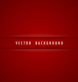 Red striped background vector image