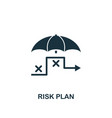 risk plan icon creative element design from risk vector image