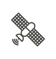 satellite icon line communication symbol vector image vector image
