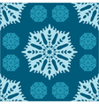 seamless Christmas pattern with snowflakes vector image vector image