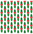 seamless pattern with holly berry vector image vector image
