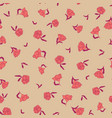 seamless small scale ditsy floral texture vector image vector image