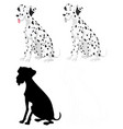 set dalmation dogs vector image