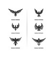 set eagle logo design eagle logo design vector image vector image