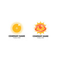 set eye sun icon logo design element vector image