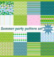 set of summer pattern collection vector image vector image
