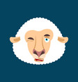 sheep winking face avatar ewe farm animal happy vector image vector image