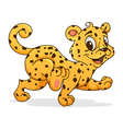 Small cheetah vector image