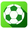 Sport icon with football ball in flat style vector image