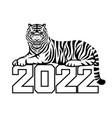 tiger symbol 2022 vector image