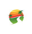travel holiday sunset island vector image