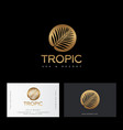 tropic gold logo resort and spa emblem paradise vector image