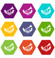 trumpet icons set 9 vector image vector image
